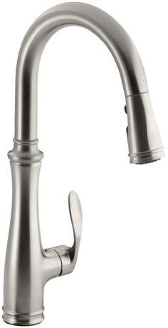 Kohler K-560-VS Bellera Pull-Down Kitchen Faucet, Vibrant Stainless Steel Kohler http://smile.amazon.com/dp/B0053XPRIE/ref=cm_sw_r_pi_dp_pHP8tb0WN1952