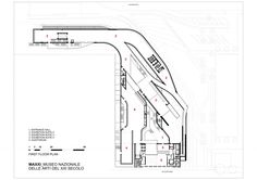 MAXXI Museum / Zaha Hadid Architects first floor plan Zaha Hadid Architects, Arquitetos Zaha Hadid, Famous Architects, Architecture Plan, Amazing Architecture, Museum Plan, Minimalist House Design, Design Museum, Building Plans