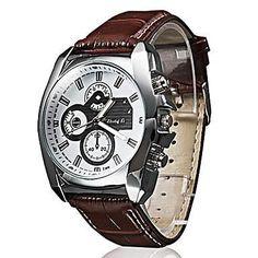 Leather Band Quartz Cool Watch Unique White/Black Watch