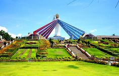 Divine Mercy - Jesus I Trust In You | Shrine near El Salvador City, in the Philippines | Group of Divine Mercy devotees received visions and instructions from Jesus to build a testament to his mercy.