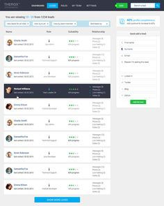CRM UX / UI for new startup on Behance