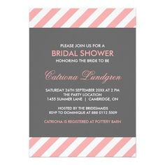 DealsPink and Gray Stripes Bridal Shower Invitationtoday price drop and special promotion. Get The best buy