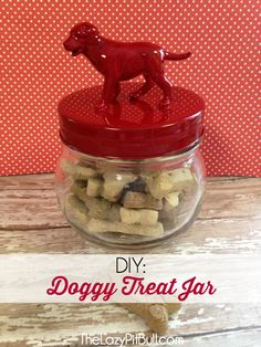DIY: Easy to Make Doggy Treat Jar