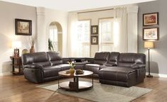 Blythe II Collection 6Pcs Recliner Sectional Sofa 9606AH-LRPW
