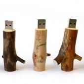 wooden usb drive from Collections of Cool site