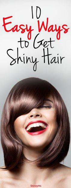 10 Easy Ways to Get Shiny Hair: My new shiny hair obsession! #hair #beauty