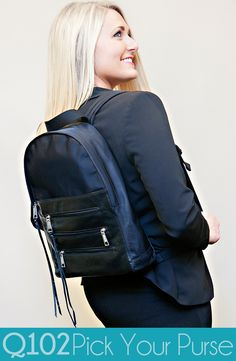 Rebecca Minkoff - Zip Black Backpack. Go to wkrq.com to find out how to play Q102's Pick Your Purse!