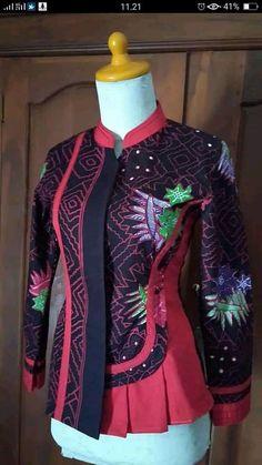 Mode Batik, Blazers, Blouse, Long Sleeve, Model, Sleeves, Jackets, Tops, Dresses