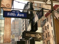 Go shopping on Fifth Avenue in NY