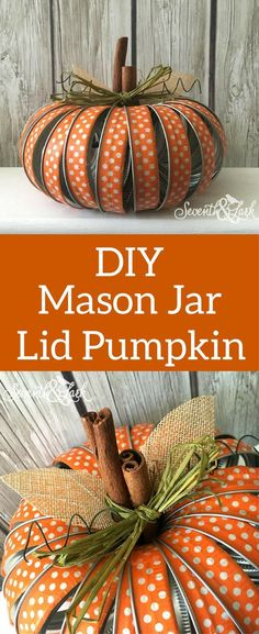 Mason Jar Pumpkin - DIY Mason Jar Lid Crafts kit - Fall Pumpkin - Mason Jar Lid Pumpkin kit - Mason Jar Craft Kit - Fall Crafts - Fall pumpkin Decor - Fall Decor - #affilate