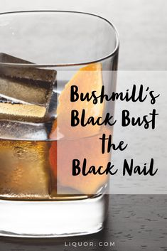 Don't be fooled by the long name, the Bushmill's Black Bush the Black Nail cocktail is actually really easy to make. Just combine Irish Whiskey and Irish Mist, and you got the perfect St. Irish Drinks, Whiskey Cocktails, Easy Cocktails, Classic Cocktails, Fun Drinks, Yummy Drinks, Party Drinks, Scotch Whiskey, Irish Whiskey