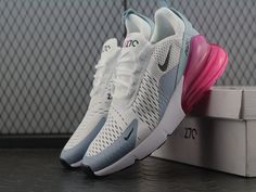 0e4ada9c60d95 Nike Air Max 270 Flyknit White Grey Red Women Sneakers Air Max 270
