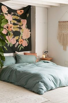 Heathered Jersey Duvet Cover | Urban Outfitters
