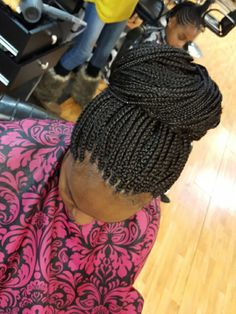 Small box braids.... come get TOUCHED