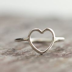 Valentine Heart Ring Sterling Silver by ThirtySixTen on Etsy