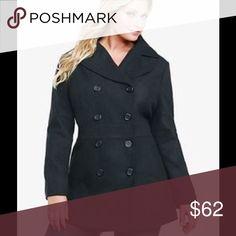 Torrid Black Peacoat Torrid Black Double Breasted Peacoat 🎉🎉Torrid Size 2 🎉🎉Preloved ! More pics 🎉2015 version Peacoat! torrid Jackets & Coats Pea Coats