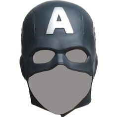 """Captain America mask is another very key accessory to complete the look and dress like Captain America. Just like the uniform Steve's mask changed with every film, but one thing that remains common in all his helmets is """"A"""" logo, some of them also feature a strap to fix the position and open ear design."""