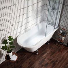 Buy Verona Islington Traditional RH Freestanding Bath x Wide - Chrome Ball Feet today. Verona Part No: Free UK delivery in approx 3 working days. Vinyl Flooring Prices, Cheap Wood Flooring, Laminate Flooring, Plank Flooring, Traditional Baths, Traditional Bathroom, Freestanding Bath With Shower, Corner Bath With Shower, Bath Shower Screens