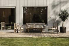 Tour a Modern, Warm and Minimal Scandinavian Home - Nordic Design Sweden House, Outdoor Furniture Sets, Outdoor Decor, Scandinavian Home, Nordic Design, Open Plan Living, Spotlights, Interior Exterior, New Builds