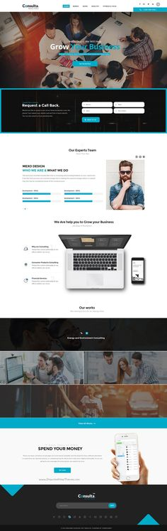 Consulta World is the Perfect #PSD template for corporate website like Financial #Advisor, Accountant, Consulting Firms etc with 11+ stunning homepage layouts #download now➯ https://themeforest.net/item/consulta-multipurpose-business-financial-psd-template-/16828542?ref=Datasata
