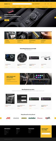 Car Audio & Electronics Online Store #OpenCart #webtemplate #themes #business #responsive #template