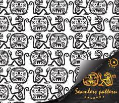 Descargar - Patrones sin fisuras nacionales indio americano — Ilustración de stock #103698546