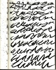 Un semblant d'écriture... / Mark Making. / By Fiona Wilson.