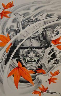 mascara samurai tattoo significado - Pesquisa Google