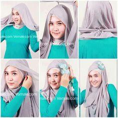 Square hijab style