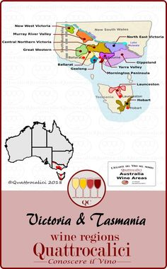 Victoria and Tasmania wines explained on Quattrocalici. Victoria Lake, Murray River, Wine Education, Yarra Valley, New West, Great Western, Tasmania, Cooking Tips, Australia