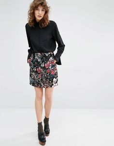 Essentiel Antwerp Malabile Tapestry A-Line Mini Skirt