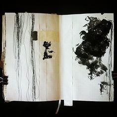 Masha Litvinova mark making in sketchbook