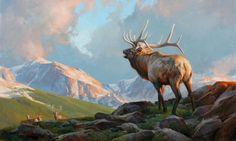 The Artwork of Edward Aldrich: Available Paintings Farm Paintings, Wildlife Paintings, Wildlife Art, Acrylic Painting Inspiration, Nature Artists, Outdoor Paint, Prehistoric Animals, Western Art, Landscape Art