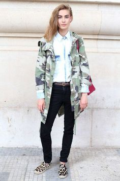 Spring 2014 trends, camo Love it with the leopard shoes!