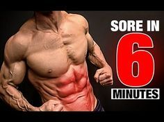 5 minutes 6 pack home ab workout (advanced) - brendan meyers Sixpack Abs Workout, Abs Workout Video, Best Ab Workout, Triceps Workout, Abs Workout For Women, Ab Workout At Home, Workout For Beginners, At Home Workouts, Workout Tips