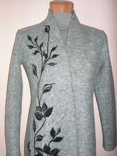 Пальто с рисунком - живопись шерстью на одежде. - Ярмарка Мастеров - ручная работа, handmade