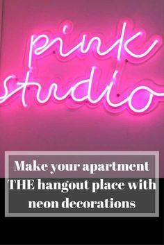 custom neon sign apartment decoration  //affiliate//