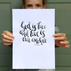 God is love and love is our anchor. Jennifer Smith