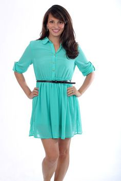 The Shelly Dress, mint $45 - pin pants