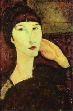 Adrienne (Woman with Bangs) by Amedeo Modigliani, 1917. National Gallery of Art, Washingon, DC, USA.