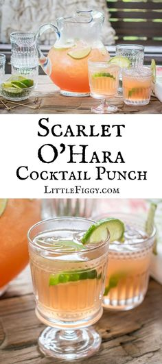 Scarlet O'Hara Cocktail Punch ready to enjoy by @littlefiggyfood for Cost Plus World Market #worldmarket Cocktail Recipes