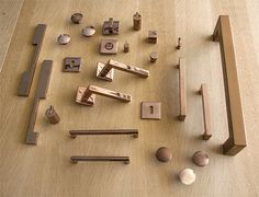 Copper finish hardware
