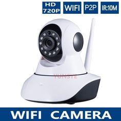 Free Ship 720P Infrared Wifi Camera PTZ P2P Wireless HD 1.0MP IP Camera IRCUT CMOS Security Surveillance Camera Night Vision