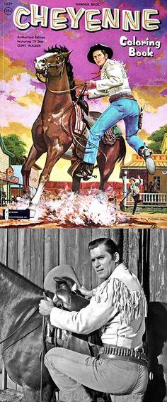 Clint Walker as 'Cheyenne Bodie' in Cheyenne (1955-63, ABC)