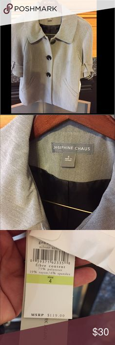 NWT jacket I do  accept reasonable offers. My items priced $15 and under are fairly fixed but I do offer great discounts for bundles. The more you buy the bigger the discount. josephine chaus Jackets & Coats Blazers