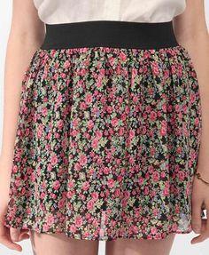 Short Floral Print Skirt | FOREVER21 - 2000038867
