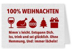 Lustiger Spruch Alle Zutaten für frohe Weihnachten Postkarte