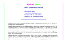 Former website for Brilliant Vision