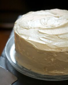Two-Layer Chocolate Cake with Chocolate Mousse & White Buttercream - Big Girls Small Kitchen