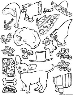 Color Your Own Chihuahua Magnetic Paper Doll Puppy Dog | eBay